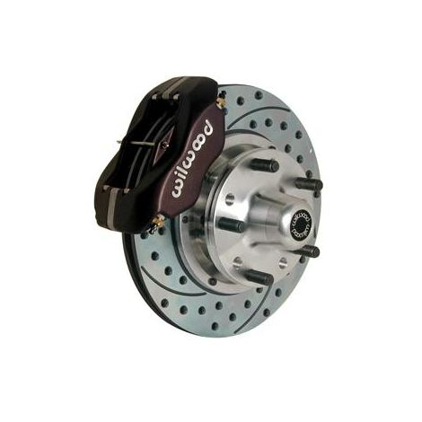 Wilwood Forged Dynalite Pro Series Front Brake Kit - Billet Calipers - Drilled Rotors