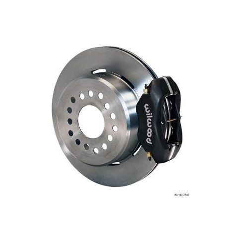 """Wilwood Forged Dynalite Rear Parking Brake Kit - 12 Bolt Chevy - Staggered Shock Mount (Buttons) (2.75"""" Offset)"""